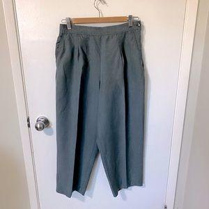Vintage Liz Claiborne Linen Blend Crop Trousers